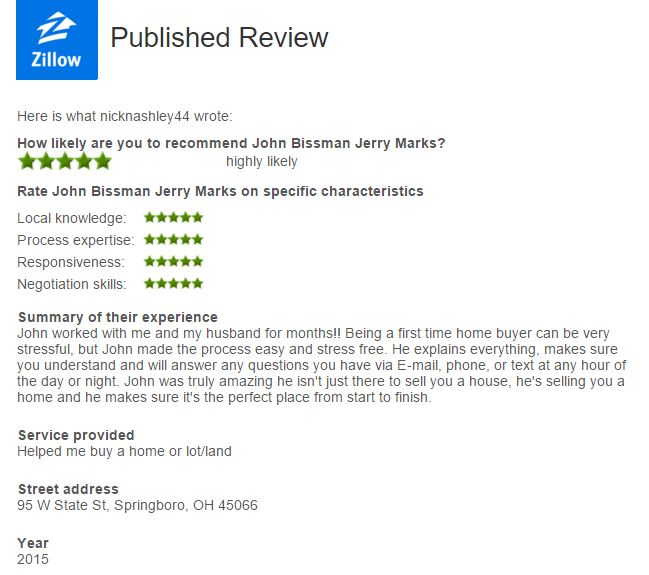 top realtor zillow reviews cincinnati area