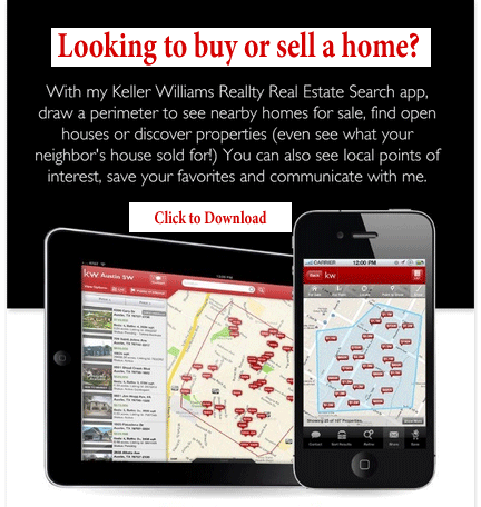 Search for Home with Mobile App Keller Williams Mobile App Andriod IPHONE